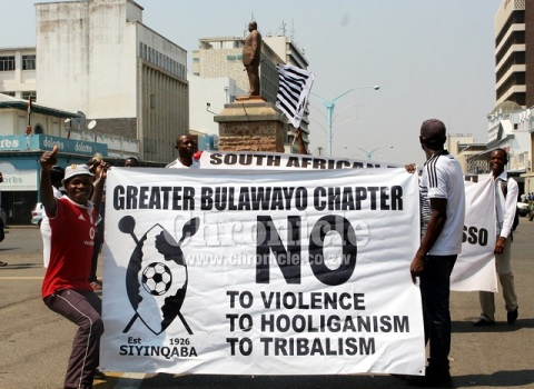 Anti-tribalism banner published by the Bulawayo based Chronicle News
